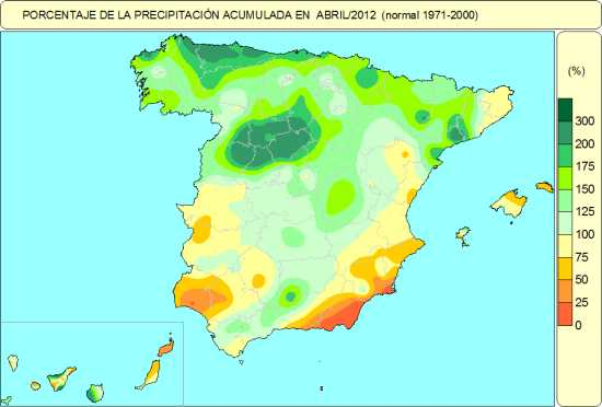 Precipitación abril 2012