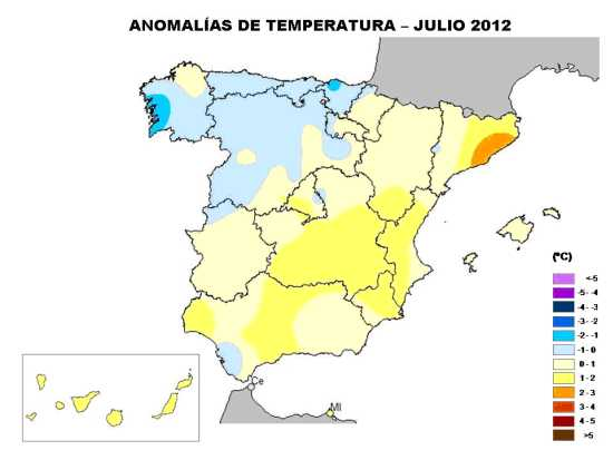 Temperaturas julio 2012