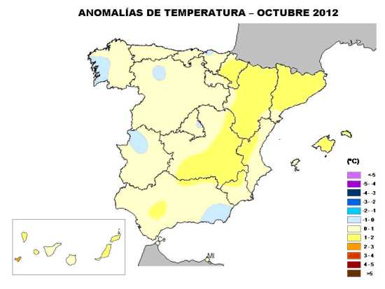 Temperatura octubre 2012
