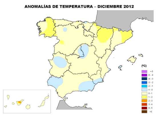 Temperatura diciembre 2012