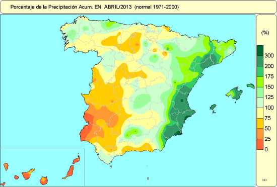 Precipitaciones abril-2013