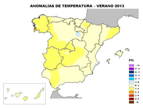 Temperaturas junio-agosto 2013