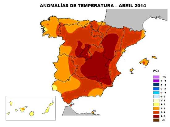 Temperaturas abril 2014