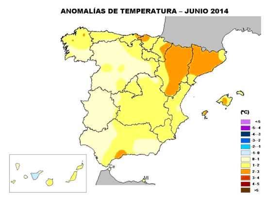 Temperaturas junio 2014