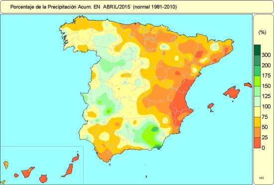 Precipitación abril 2015