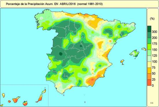 Precipitación abril 2016