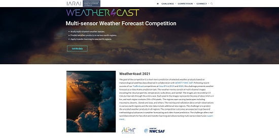 Detalle de la web que aloja la competición 'Weather4cast'