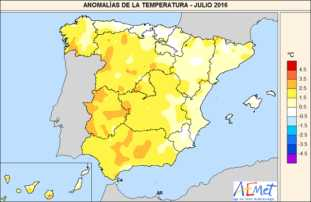 Temperaturas julio 2016