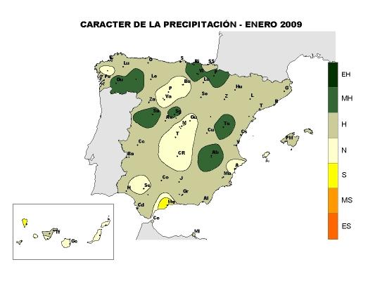 Precipitación enero 2009